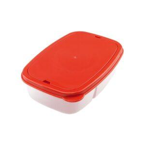 Lancheira com Compartimentos e Talheres (1 L) 144025 Vermelho