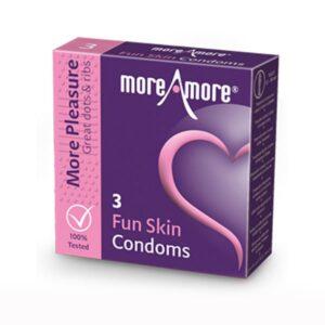 3 Preservativos Fun Skin MoreAmore