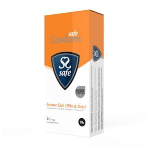 10 Preservativos Intense Safe Rib-Nop Safe