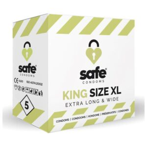 Pack de 5 ou 36 Preservativos King XL Safe