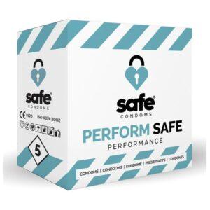 Pack de 5 - 36 ou 72  Preservativos Performance Safe