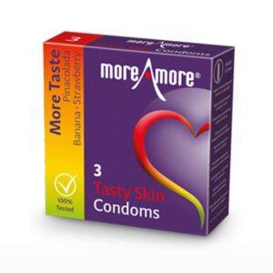3 Preservativos Tasty Skin MoreAmore