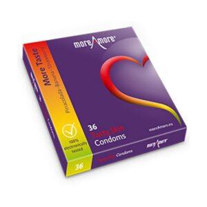 36 Preservativos Tasty Skin MoreAmore