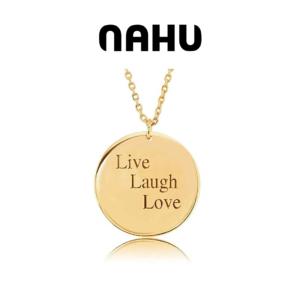Colar Nahu Prata 925® Nahu- NAN-DISK-GV-G