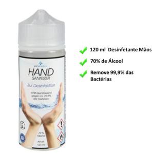 Desinfetante de Mãos 120 ml | Remove 99,9% das Bactérias | 70% Álcool