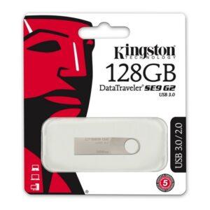 Memória USB Kingston DTSE9G2 3.0 Prateado 128 GB