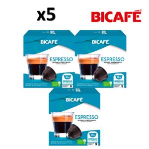 Pack 5 Caixas ( 80 unidades ) Cáp. Bicafé Compativeis com DOLCE GUSTO Espresso Intensidade 9