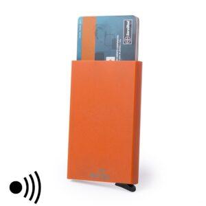 Porta-Cartões RFID Laranja com Mecanismo Automático 146173