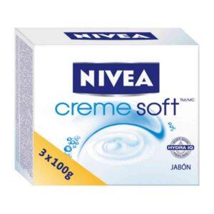 Conjunto de Sabonetes Creme Soft Nivea (3 pcs)