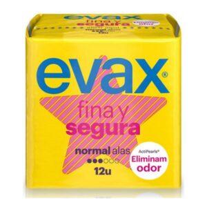 Pensos Higiénicos Normais com Alas Evax (12 uds)