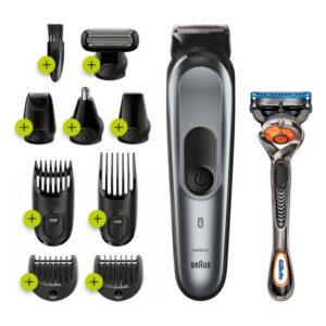 Máquina de Barbear Elétrica Recarregável Braun Bodygroom MGK7221 Cinzento