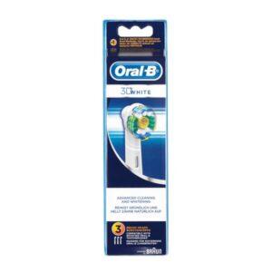3 Recargas para Escovas de Dentes Elétricas Oral-B 3D White