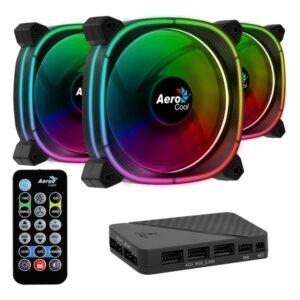 Ventilador Aerocool Astro 12 Pro Ø 12 cm 1000 rpm RGB LED