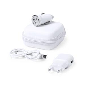 Conjunto de Carregadores USB 1000 mAh Branco 146091 Branco