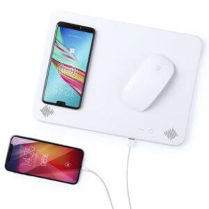 Tapete de Rato com Carregador sem Fios Qi Bluetooth | 4000 mAh | 2W | Branco