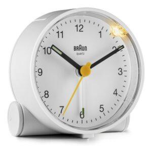 Relógio-despertador analógico Braun BC-01-W Branco