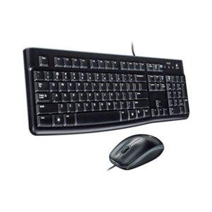 Teclado e rato óticos Logitech 920-002550 1000 dpi USB Preto