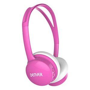 Auscultadores de Diadema Dobráveis com Bluetooth Denver Electronics BTH-150 250 mAh Cor de Rosa