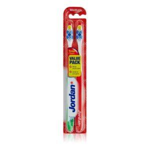 Escova de Dentes Total Clean Medium Jordan (2 uds)