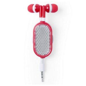 Auriculares Desportivos com Acessório Refletor 145682 Vermelho