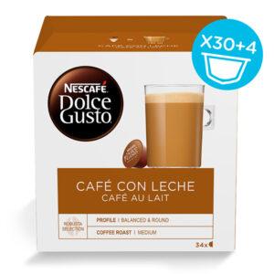 34 Cápsulas de café | Nescafé Dolce Gusto Cafe au lait