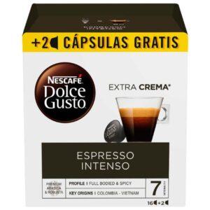 18 Cápsulas de café | Nescafé Dolce Gusto Espresso intenso