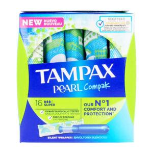 Tampões Super Pearl Tampax (18 uds)