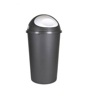 Balde de Lixo Tontarelli Big Hoop 45 L Plástico Preto (ø 39 x 72 cm)