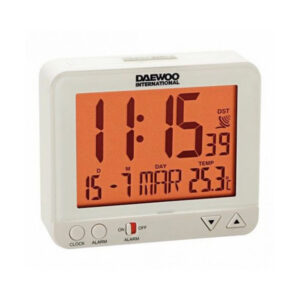 Relógio-Despertador Daewoo DBF120 Branco