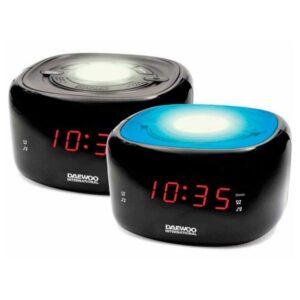 Rádio Despertador Daewoo DCR-440BK LED FM Preto