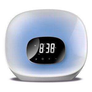 Rádio Despertador Daewoo DCR-470 LED Branco