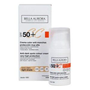Creme Antimanchas Cc Cream Bella Aurora Tom claro 30 ml - Spf: 50+