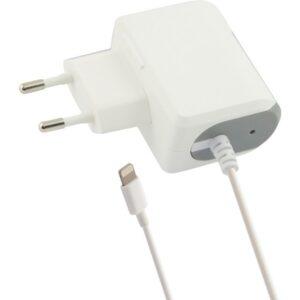 Carregador de Parede Lightning 1a Contact iPhone Branco