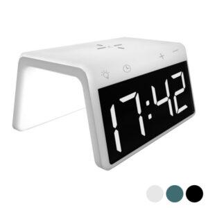 Relógio Despertador com Carregador sem Fios KSIX Qi 10W Branco