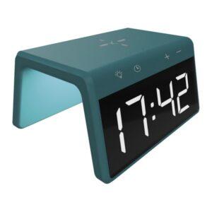 Relógio Despertador com Carregador sem Fios KSIX Qi 10W Verde