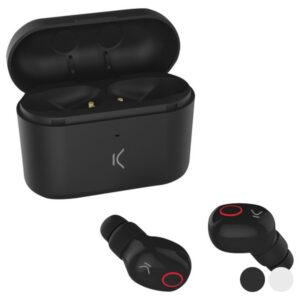 Auriculares Bluetooth com microfone KSIX Free Pods 400 mAh Preto