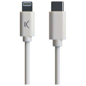 Cabo USB-C para Lightning KSIX MFI (1 m) Branco