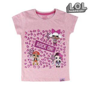 Camisola de Manga Curta Infantil LOL Surprise! 74043 Cor de rosa 5 anos