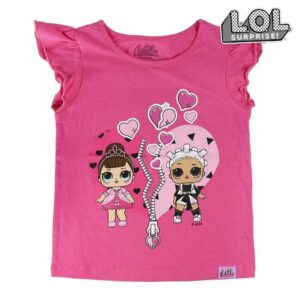 Camisola de Manga Curta Infantil LOL Surprise! 74095 Fúcsia 10 anos