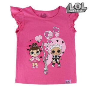 Camisola de Manga Curta Infantil LOL Surprise! 74095 Fúcsia - 5 anos
