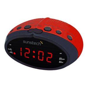 Rádio Despertador Sunstech FRD16RD Vermelho