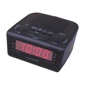 Rádio Despertador Sunstech FRD18BK Preto
