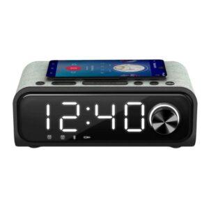 Rádio Despertador com Carregador sem Fios Energy Sistem Speaker 4 Bluetooth 5.0 10W Preto Prateado