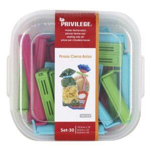 Molas para Fechar Sacos Privilege Multicolor (30 Uds)