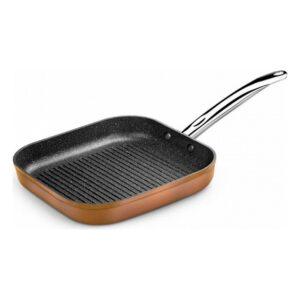 Frigideira Assadora com Riscas Monix M740030 Grill 28 cm Castanho Preto