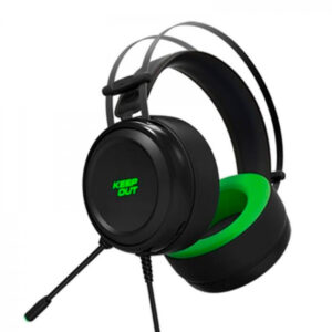 Auscultadores com microfone para Vídeojogos KEEP OUT HX10 Preto Verde