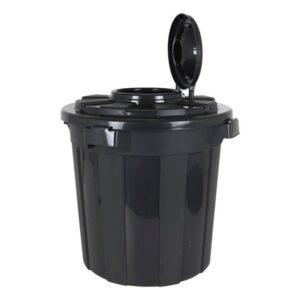 Balde de Lixo Hop Preto ø 50 x 62 cm - 70 L