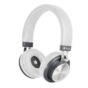 Auscultadores Bluetooth com microfone NGS ARTICAPATROLWHITE Branco