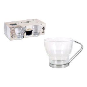 Conjunto de Chávenas de Café Glassic 100 cc Cristal (4 Pcs)