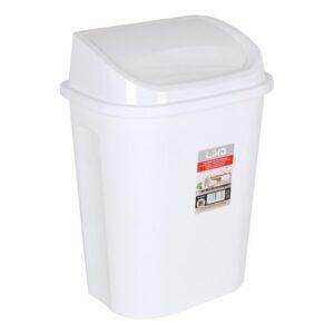 Balde de Lixo Lixo Branco 26,7 x 18,7 x 36 cm - 9 L